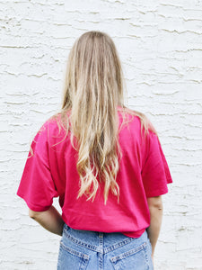 vintage pink hawaii cotton palms t shirt tee