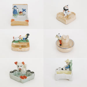 arlee park vintage quirky ceramic ashtrays
