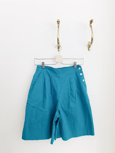 vintage clothing arlee park teal chaus shorts