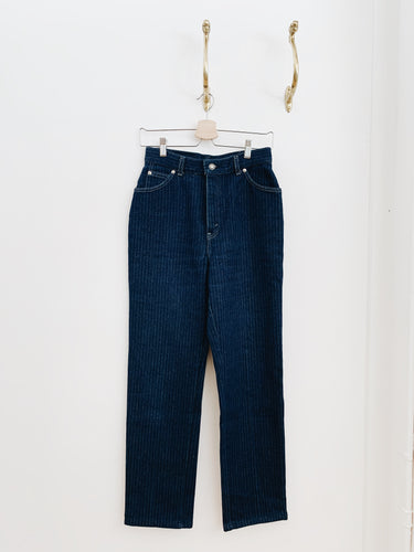 arlee park vintage pinstripe levi's jeans from the 1980s