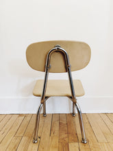 arlee park vintage kids chair chrome legs cortex