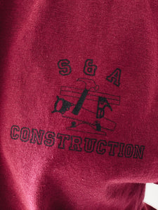VINTAGE S & A <BR> CONSTRUCTION TEE