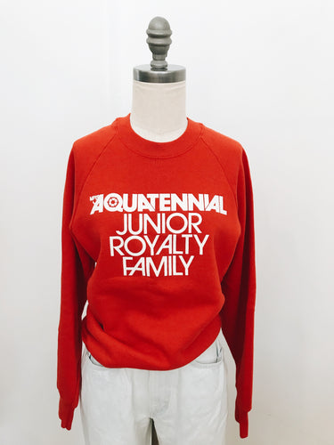 RED AQUATENNIAL <BR> CREWNECK