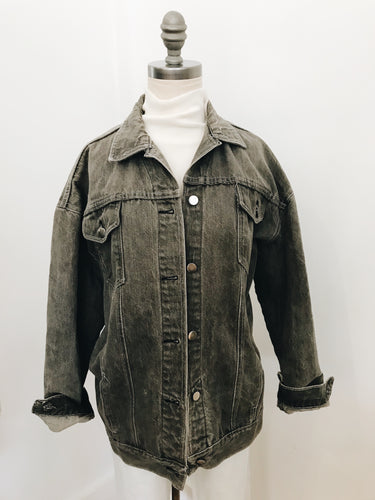GREY DENIM <BR> SEARS JACKET