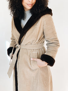CORDUROY <BR> ROBE COAT