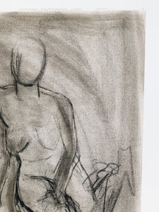 CHARCOAL <BR> LEANING FIGURE