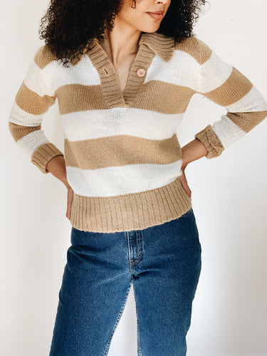 STRIPED <BR> SWEATER