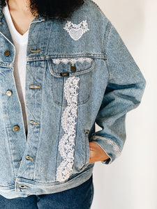 LEE LACE <BR> TRUCKER JACKET