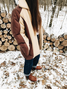 VINTAGE BROWN & TAN <BR> SEARS COAT