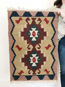 HAND-KNOTTED <BR> KILIM RUG