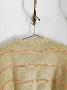 arlee park vintage yellow striped knit sweater