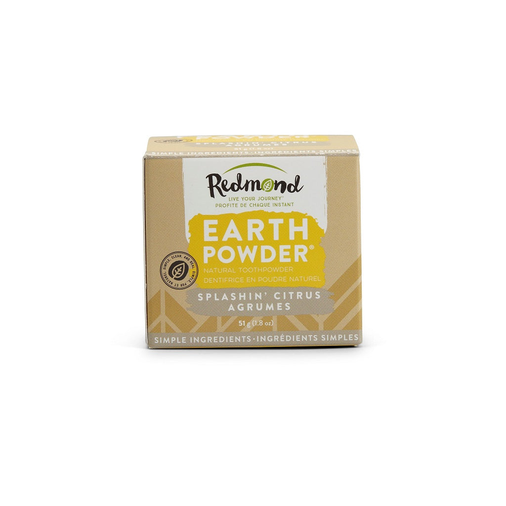 Dentifrice naturel en poudre EARTHPOWDER Agrumes - Redmond