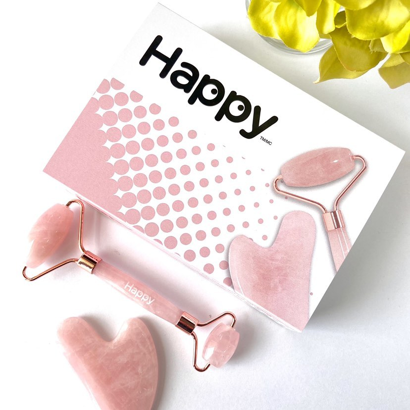 Ensemble Rouleau de Quartz Rose et Gua Sha - Happy Natural Products