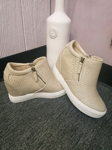 "Not Rated ""Snake"" Wedge Sneakers"