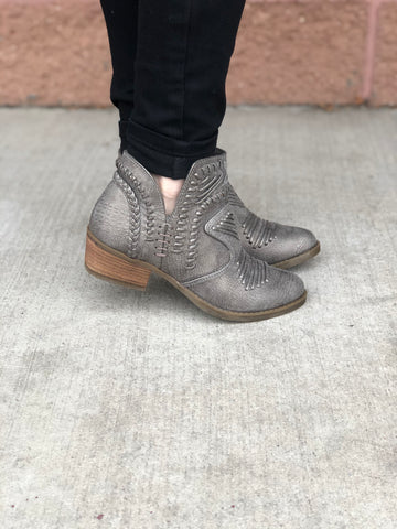 "Not Rated ""Nosara"" Grey Booties"