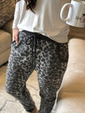 Animal Print Fleece Joggers