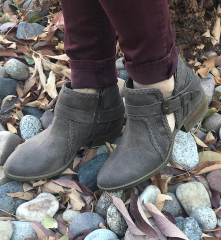"Not Rated Taupe ""Percy"" Buckle Bootie"