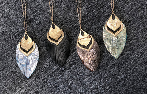 Metal & Leather Tassel Pendant