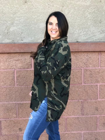 Camo Button Up Long Sleeve
