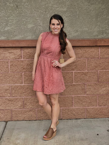 Dusty Rose Midi Dress