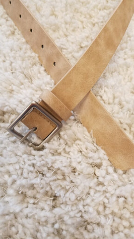 Basic Leather Square Buckle