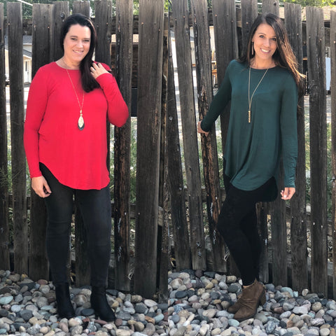Basic High Low Long Sleeve