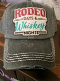 "Vintage ""Rodeo Days & Whiskey Nights"" Cap"