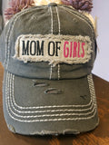 """Mom of Girls"" Vintage Cap"