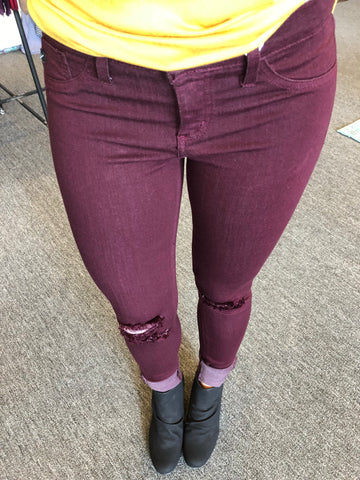 KanCan Burgundy Skinnies