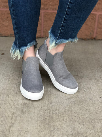Grey Canvas Sneakers