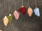 Colored Tassel Necklace