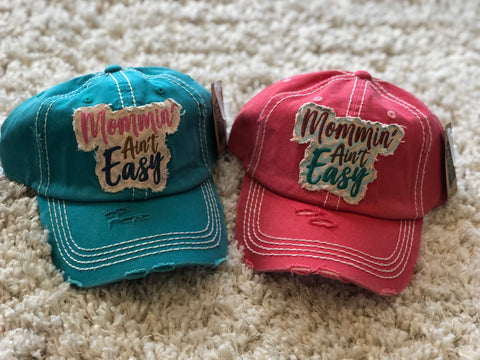 """Mommin' Ain't Easy Vintage Hat"