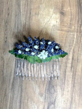 Dried Lavender Hair Comb - Lavender Wedding Co