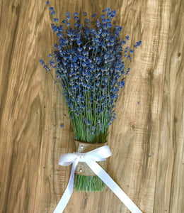 Lavender Bridal Bouquets - Simply Elegant, Dried Lavender, Deep Color, Beautiful & Fragrant - Lavender Wedding Co