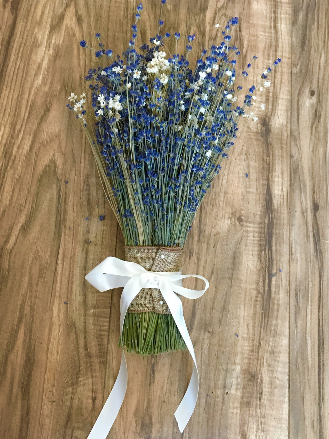 Bridal Bouquet -  Dried Lavender with Star Flowers - Deep Colors, Beautiful & Fragrant - Lavender Wedding Co