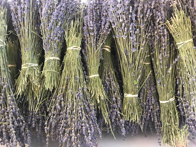 Field Bundles - Pure Dried Lavender, Fragrant, Bold Color, Raw - Lavender Wedding Co