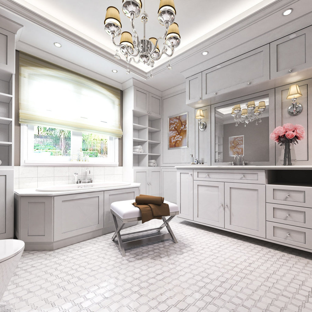 Trellis_Weave_Polished_Thassos_White_Carrara_Marble_Waterjet_Mosaic_Tile_Buys_Bathroom_Floor_01