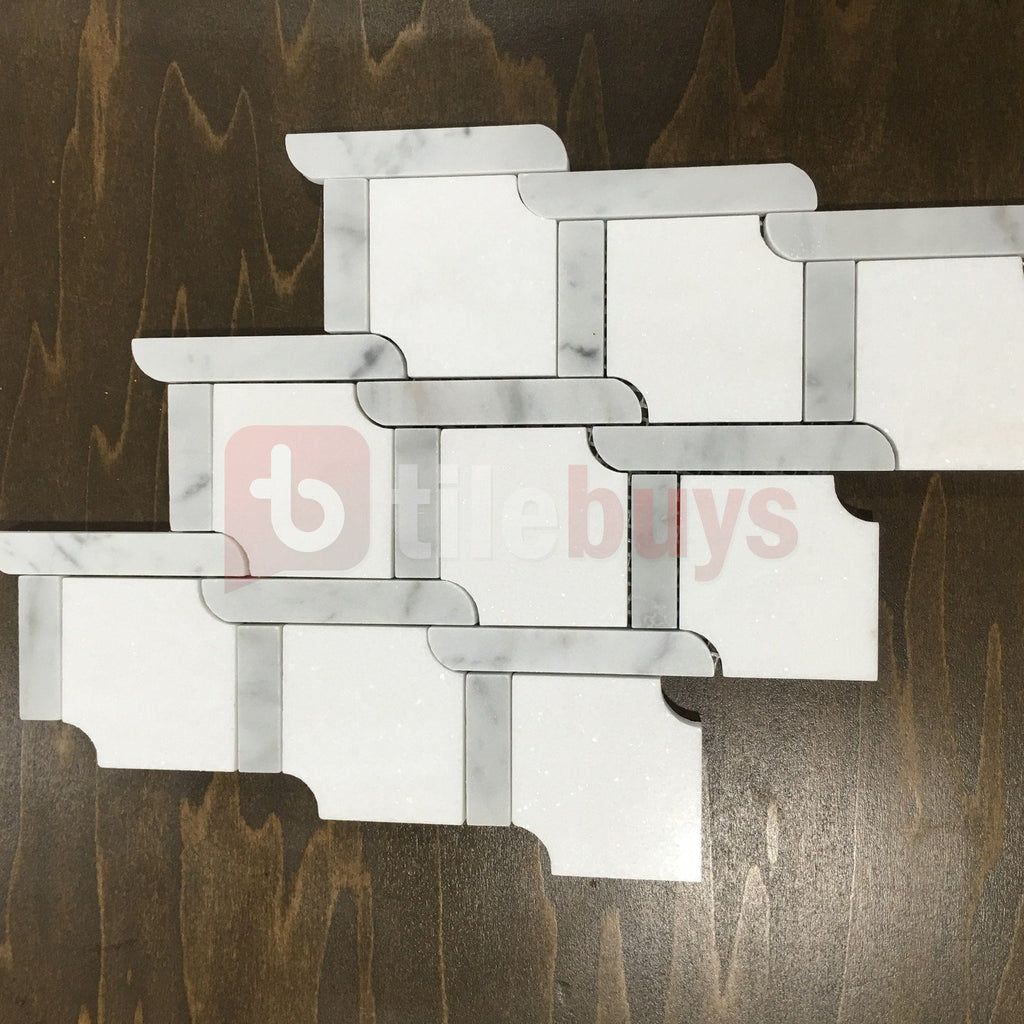 Trellis_Weave_Polished_Thassos_White_Carrara_Marble_Waterjet_Mosaic_Tile_Buys_001