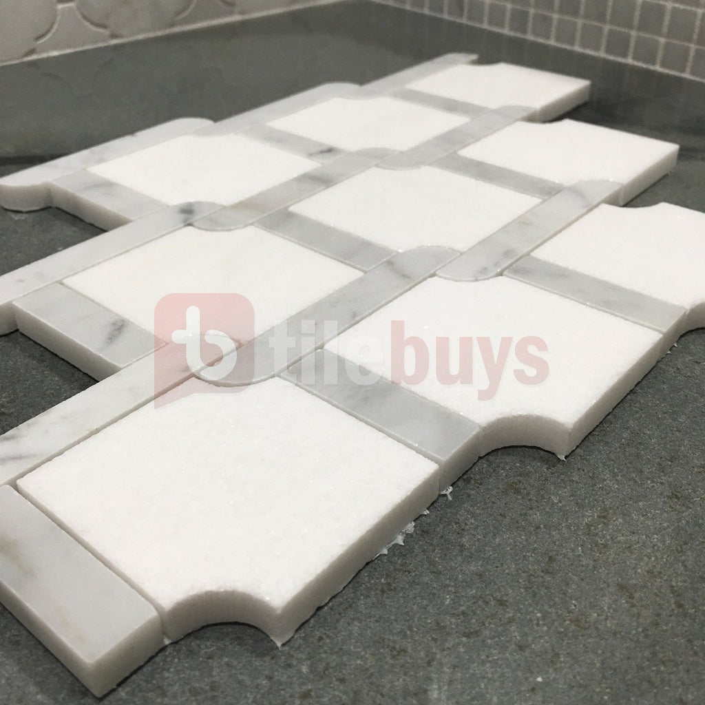 Trellis_Weave_Polished_Thassos_White_Carrara_Marble_Waterjet_Mosaic_Tile_Buys_11