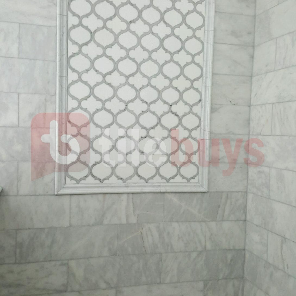 Marrakech_Arabesque_Thassos_White_Carrara_Marble_Waterjet_Mosaic_Tile_Buys_Shower_Tile_01
