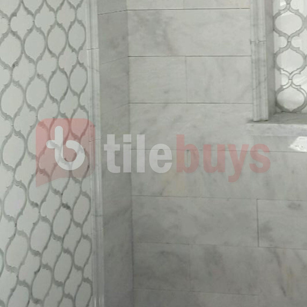 Marrakech_Arabesque_Thassos_White_Carrara_Marble_Waterjet_Mosaic_Tile_Buys_shower_design_01