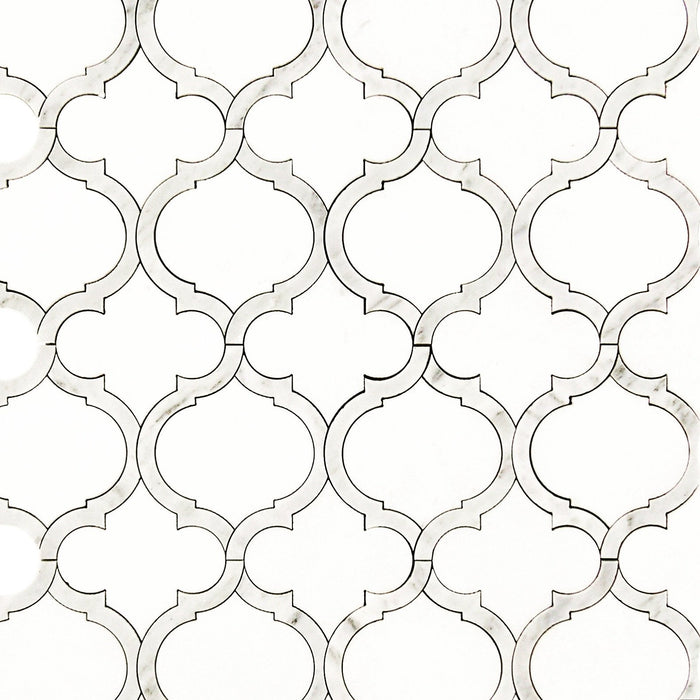 Marrakech_Arabesque_Thassos_White_Carrara_Marble_Waterjet_Mosaic_Tile_Buys_01