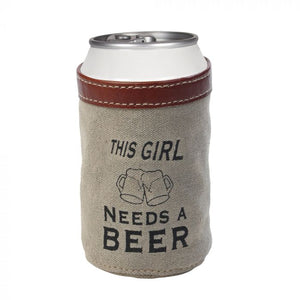 "Myra Bag ""This Girl Needs A Beer"" Can Holder!!!"