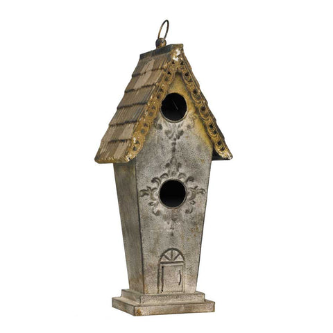 Birdhouse - Metal Embossed two hole