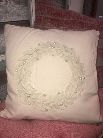 Wreath Christmas Pillow