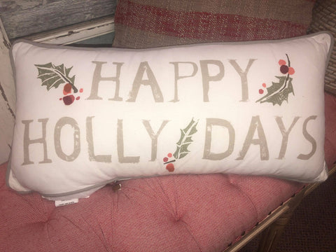Happy Hollydays Pillow