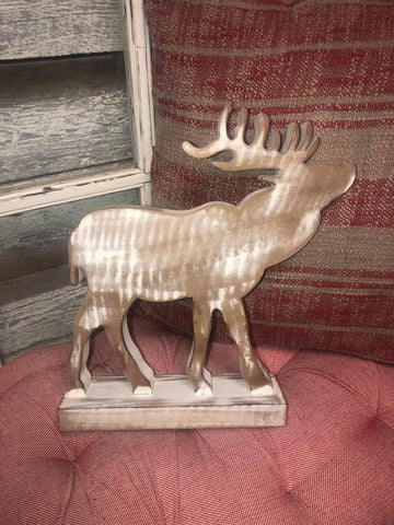 Wooden Distressed Deer