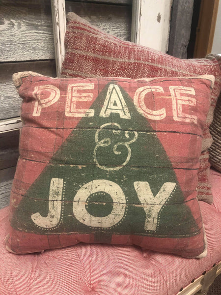 Christmas Pillow - Peace and Joy