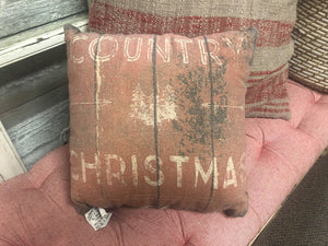 Country Christmas Vintage Pillow