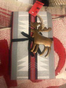 Christmas towel with elk  ornament